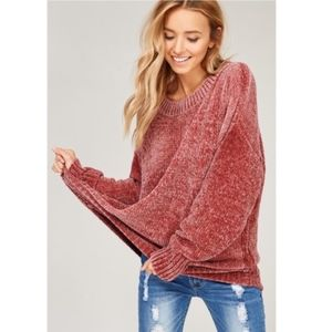 KELSEY Buttery Soft Sweater - ROSE